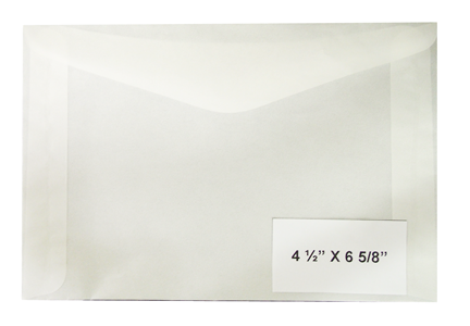 #8 Glassine Envelopes - Qty: 1000