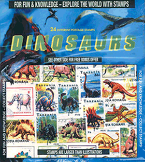 Dinosaurs -- 24 Stamps