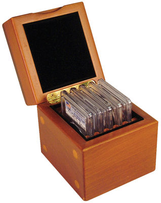Wood Display Box (The Mini)  - 5 NGC or PCGS slabs