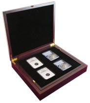 Wood Display Box - 8 NGC or PCGS slabs