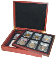 Wood Display Box - (NOW item 23820 and 23890) 12 NGC or PCGS slabs