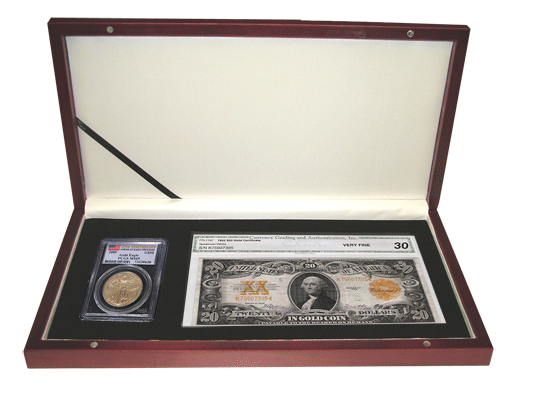 Currency Box with Slab Holder - Special Orders Only