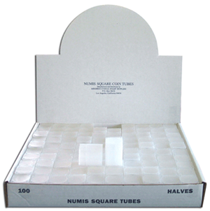 Numis Half Dollar Square Tube - 100/bx