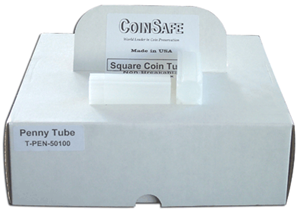 Square Coin Tube Cent