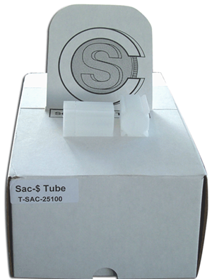 Square Coin Tube Sm. Dollar (25 Coins)
