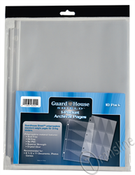 Guardhouse Shield 1 Pocket Archival 10 pack Polypropylene Pages 10/Pack