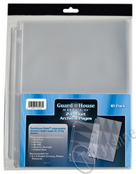 Guardhouse Shield 2 Pocket Archival 10 pack  Polypropylene Pages 10/Pack