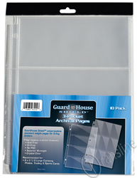 Guardhouse Shield 3 Pocket  Archival 10 pack Polypropylene Pages 10/Pack