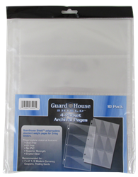 Guardhouse Shield 4 Pocket Archival 10 pack Polypropylene Pages 10/Pack