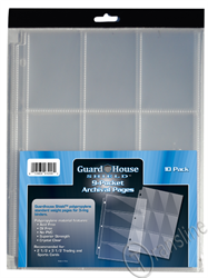 Guardhouse Shield 9 Pocket Archival 10 pack Polypropylene Pages 10/Pack