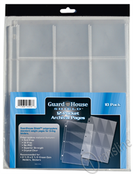 Guardhouse Shield 12 Pocket 10 pack Archival Polypropylene Pages 10/Pack