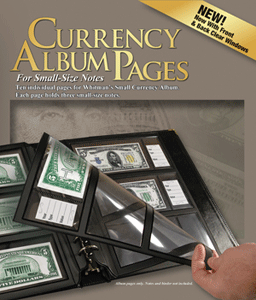 10 Premium Currency Album Refill Pages - Small  Notes - Clear View Pages