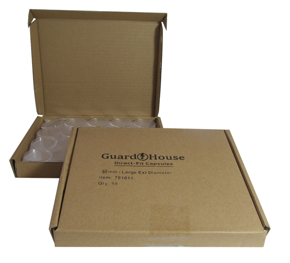 Silver Eagle 40.6mm Direct-Fit Guardhouse coin holders - (L dia) / 50 per box.