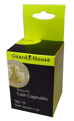 1 oz Gold Eagle Direct-Fit Coin Capsules - 10 Pack