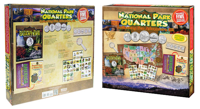 National Park Quarters Collecting Fun Adventure Kit with Coins