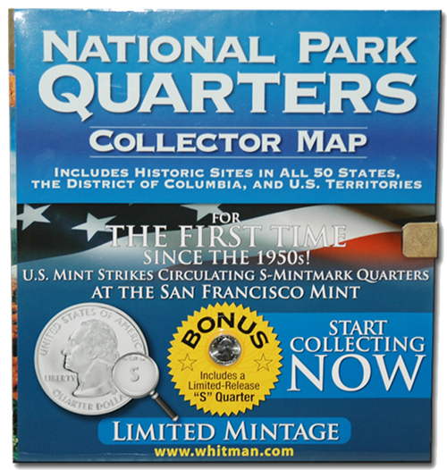 National Park Quarters Foam Map