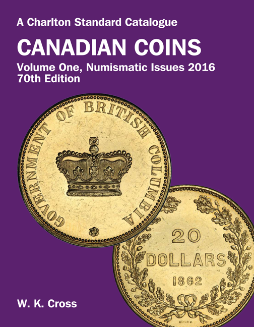 FUTURE RELEASE - 2016 Canadian Coins, Vol 1 Numismatic Issues, 70th Edition