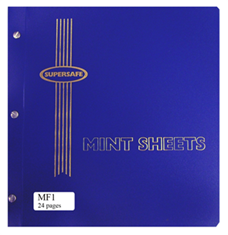 Mint Sheet File, 24 Sheet Capacity (Blue)
