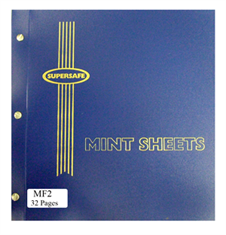 Mint Sheet File, 32 Sheet Capacity (Blue)