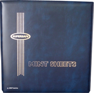 Deluxe Mint Sheet Binder Only (Blue)