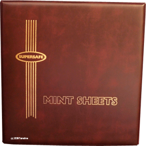 Deluxe Mint Sheet Binder Only (Red)