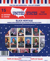 Black Heritage US -- 15 Stamps