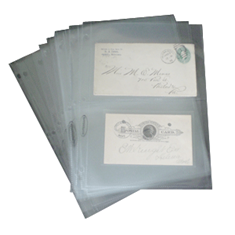 2 Pocket Archival Polyproplyene Pages, Clear