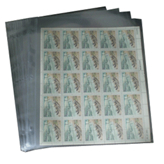 1 Pocket Mint Sheet Archival Polyproplyene Pages, Clear