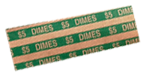 Flat Dime Coin Wrappers