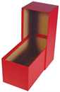 "Single Row Slab or Crown Box - 4.5""- Red"