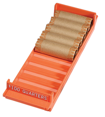 Quarter Interlocking Coin Roll Trays