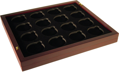 Large Capsule Tray - Holds 16 Round Large Sized Coin Capsules