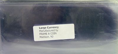Large Currency Holder 100 p/pack (5 Mil)