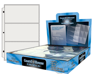 Guardhouse Shield 3 Pocket (100 pack) Polypropylene Pages