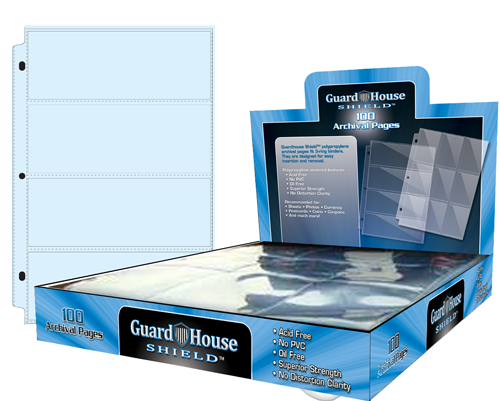 Guardhouse Shield 4 Pocket (100 pack) Archival Polypropylene Pages