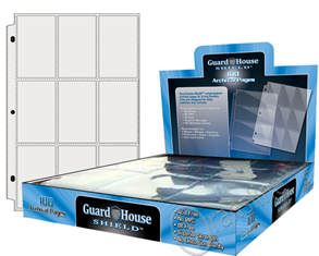 Guardhouse Shield 9 Pocket (100 pack) Archival Polypropylene Pages