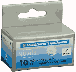 14mm - Coin Capsules (pack of 10)