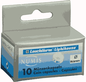 16.5mm - Coin Capsules (pack of 10)