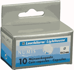 19.5mm - Coin Capsules (pack of 10)