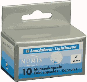 21mm - Coin Capsules (pack of 10)