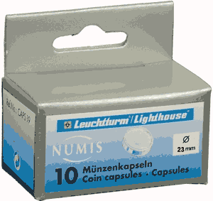 23mm - Coin Capsules (pack of 10)