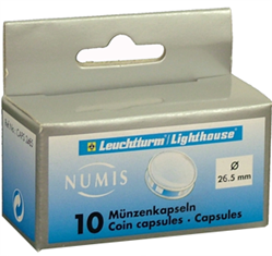 26.5mm - Coin Capsules (pack of 10)