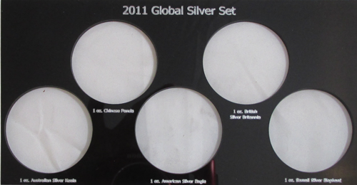 2011 Global Silver Set Plastic Insert, Black