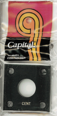Capital Plastics 144 Coin Holder - Cent