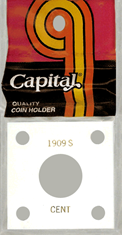 Capital Plastics 144 Coin Holder - 1909S Cent
