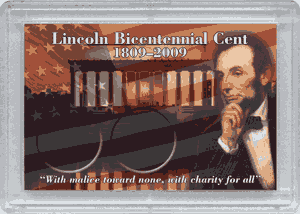 Abe Lincoln Bicentential Frosty Case - 2 Hole