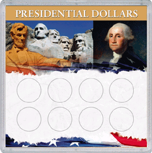 Presidential Dollar Frosty Case - 8 Holes