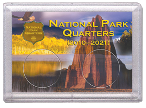 National Parks Rock and Eagle Design Frosty Case - 2 Hole