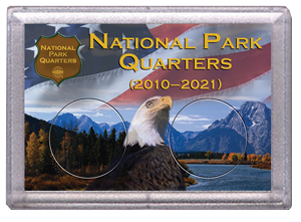 National Parks Flag and Eagle Design Frosty Case - 2 Hole