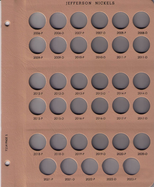 Jefferson Nickels 2006 to Date Replacement Page 1